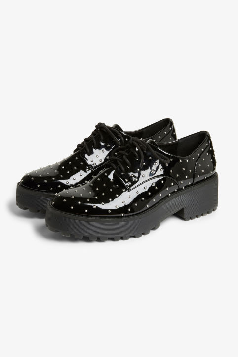 Flatform oxford shoes
