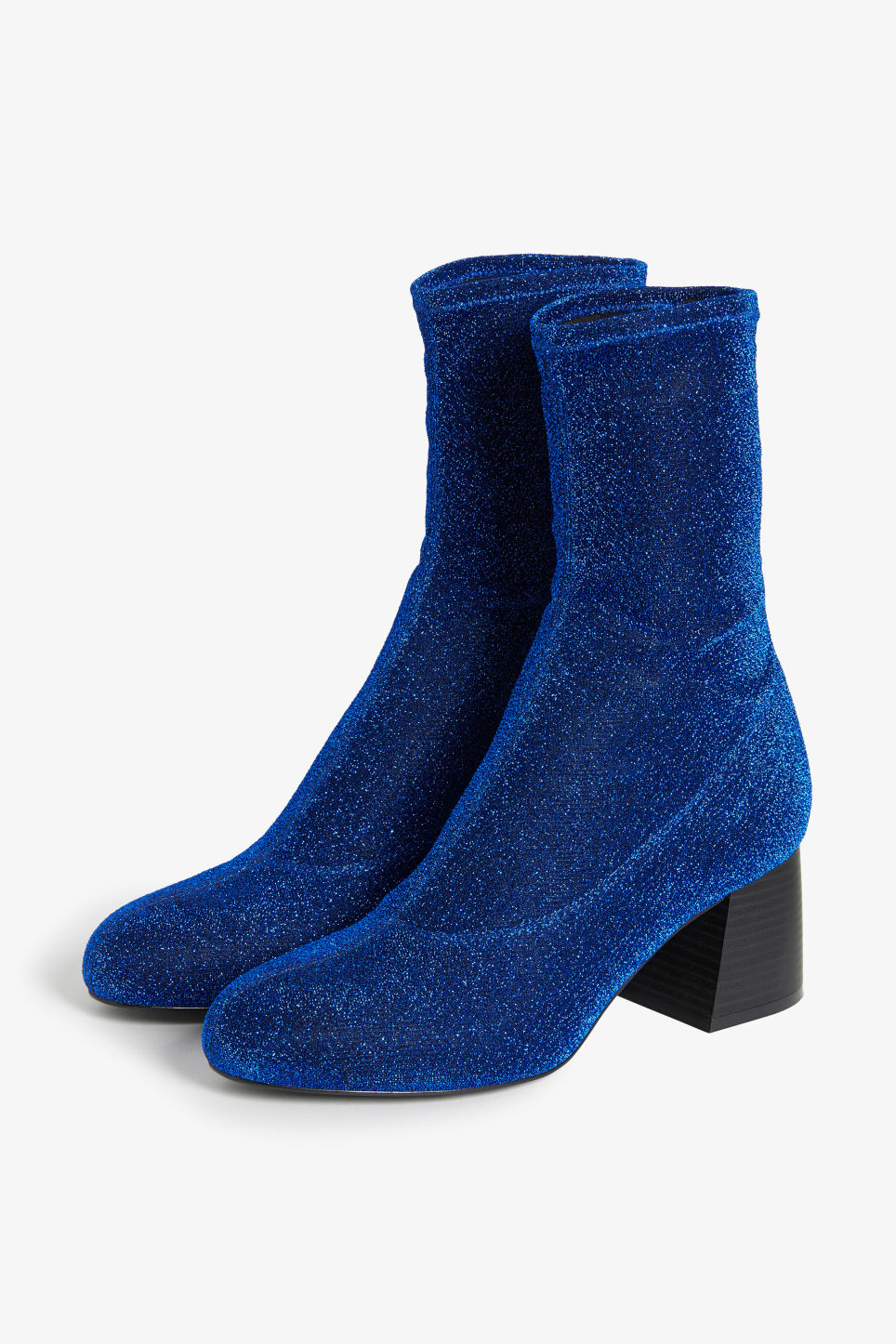 Front image of Monki stretch ankle boots in blue