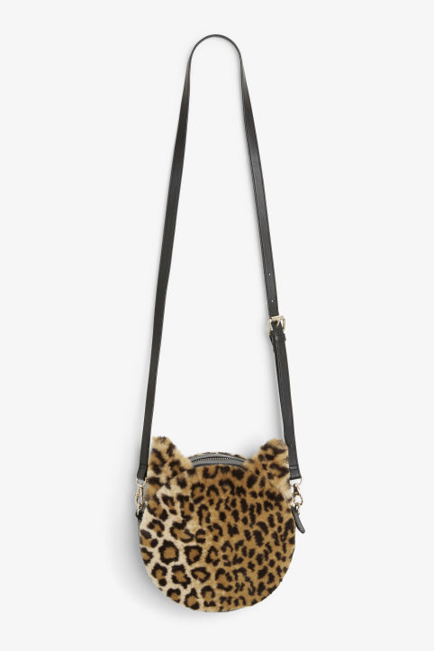 Faux fur cat bag