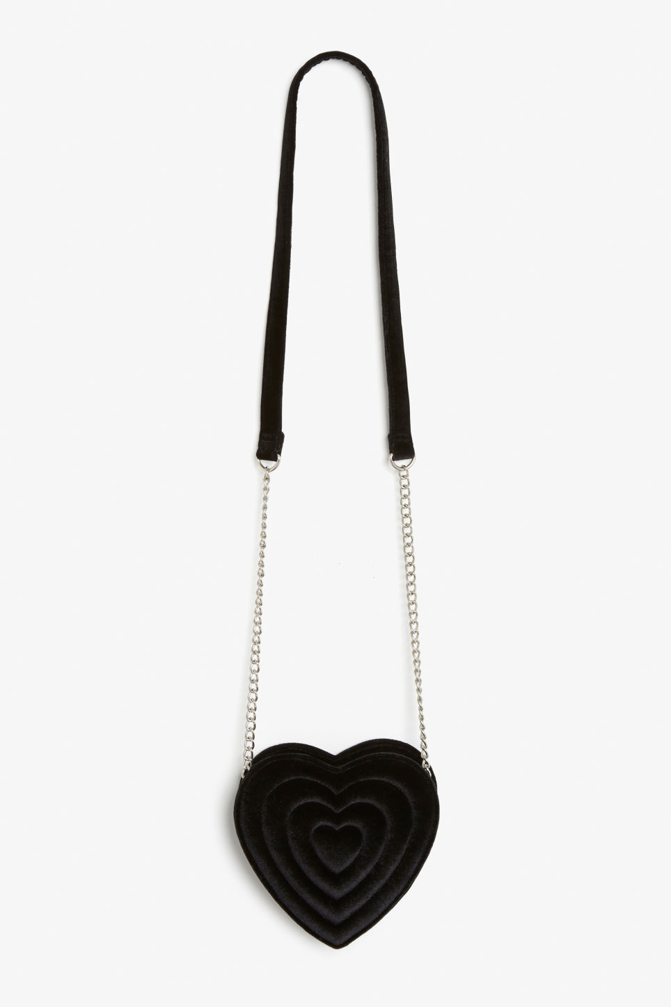 Front image of Monki heart bag  in black