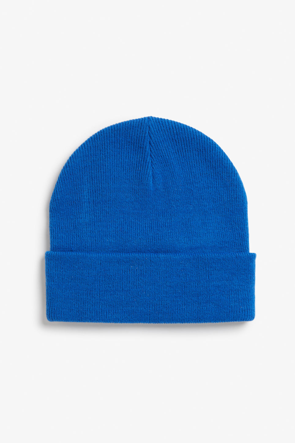 Front image of Monki classic beanie in blue