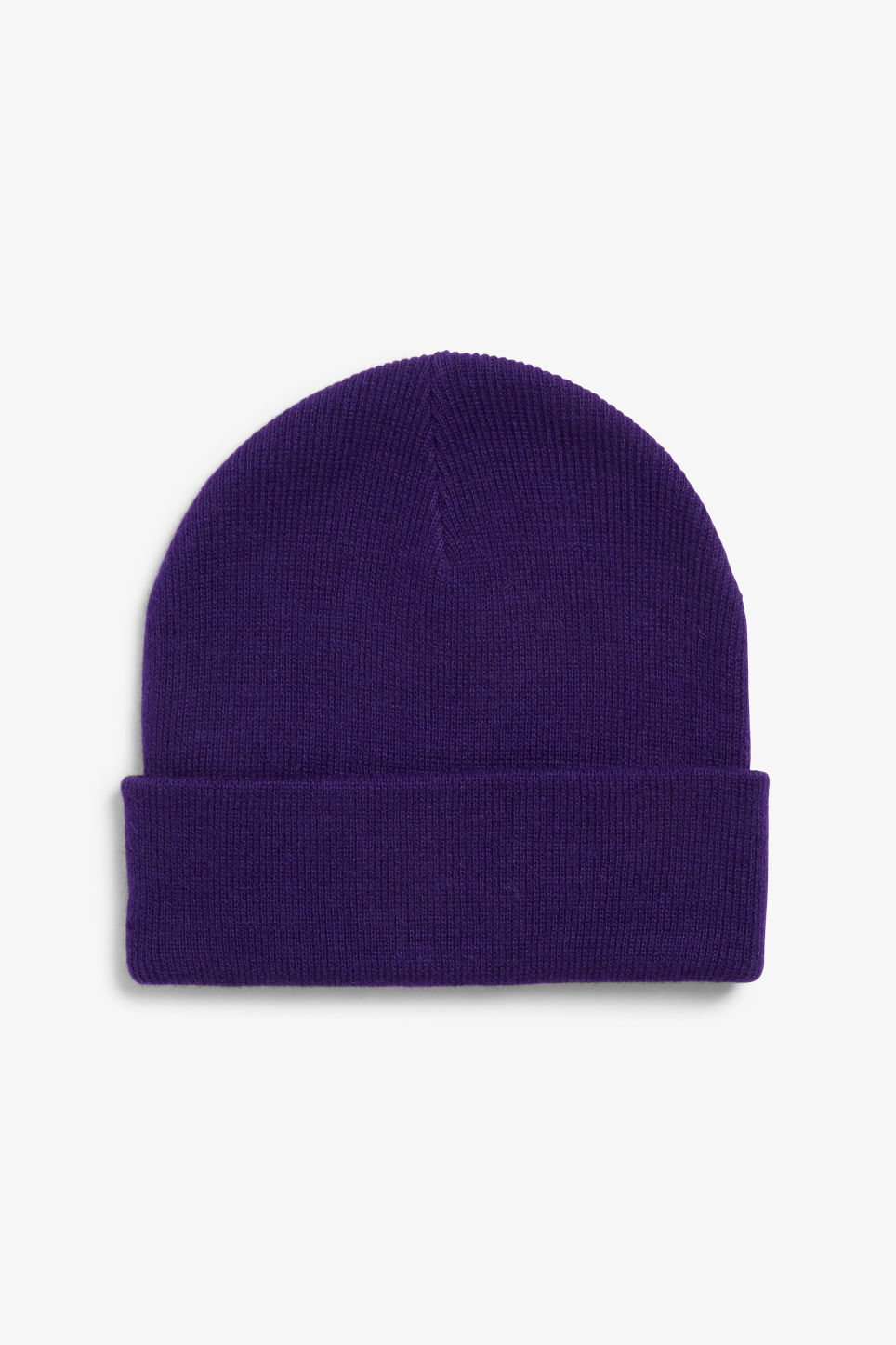 Front image of Monki classic beanie in purple