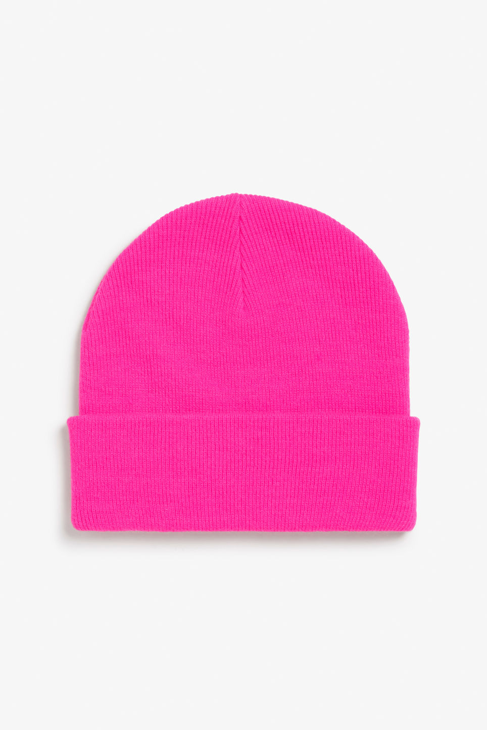 Front image of Monki classic beanie in pink