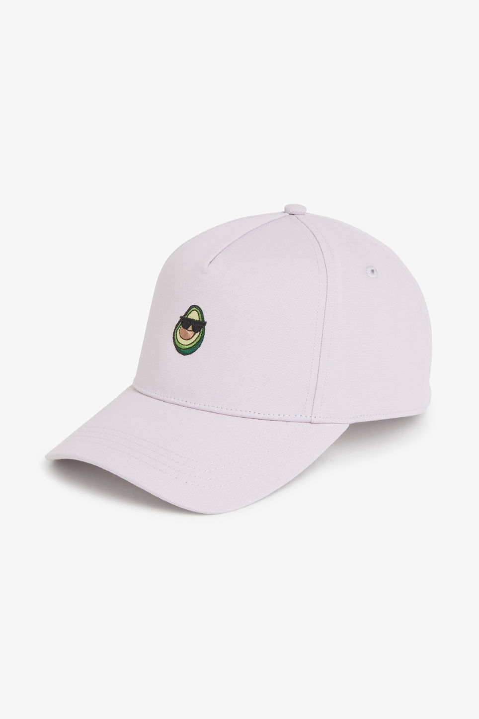 Front image of Monki baseball hat in purple