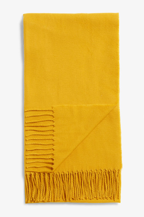 Front image of Monki cosy scarf in yellow