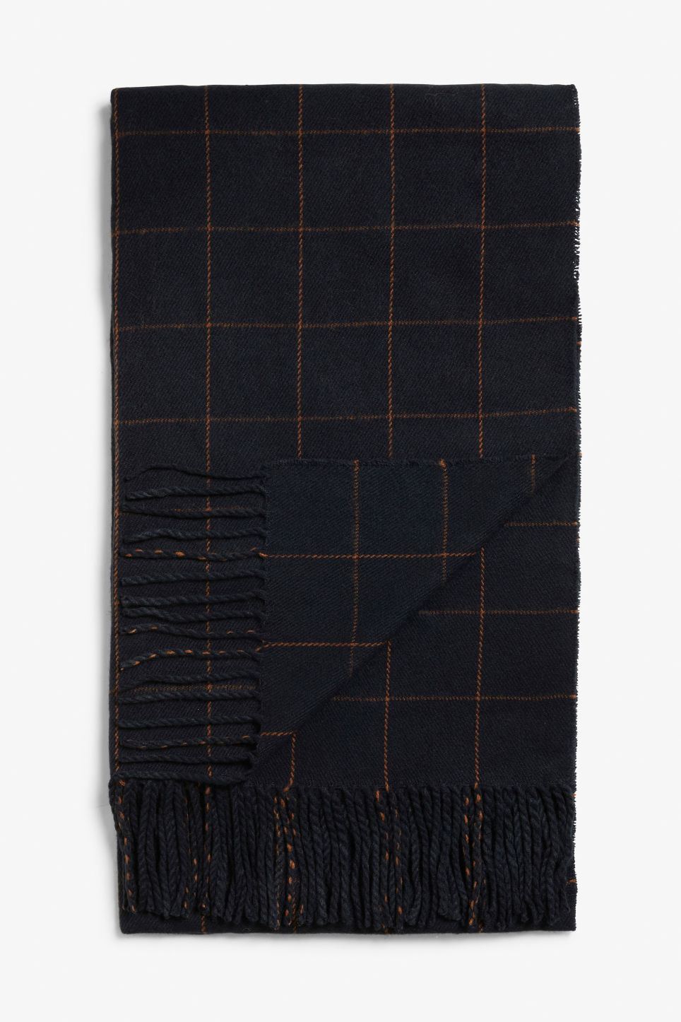 Front image of Monki cosy scarf in blue