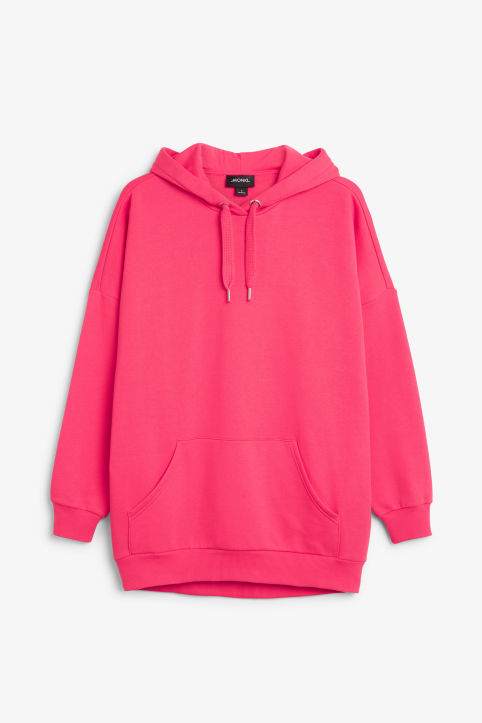 Front image of Monki oversized hoodie in pink