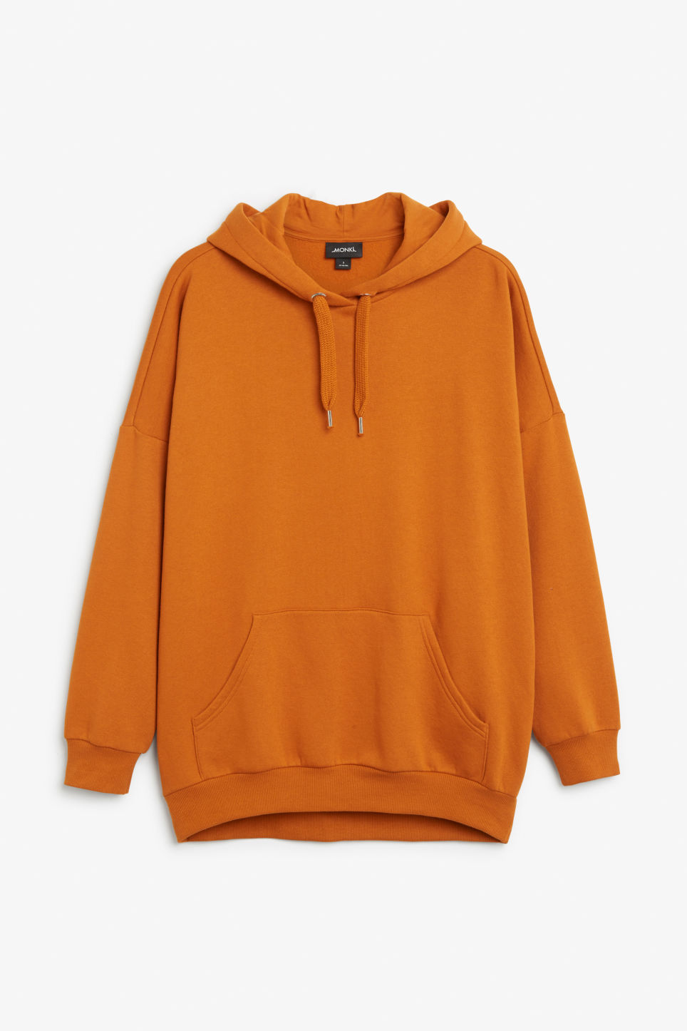 Front image of Monki oversized hoodie in orange