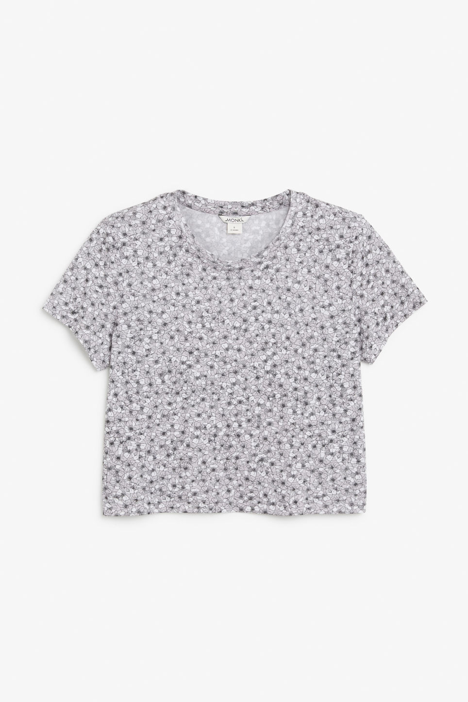 Front image of Monki cropped tee in purple