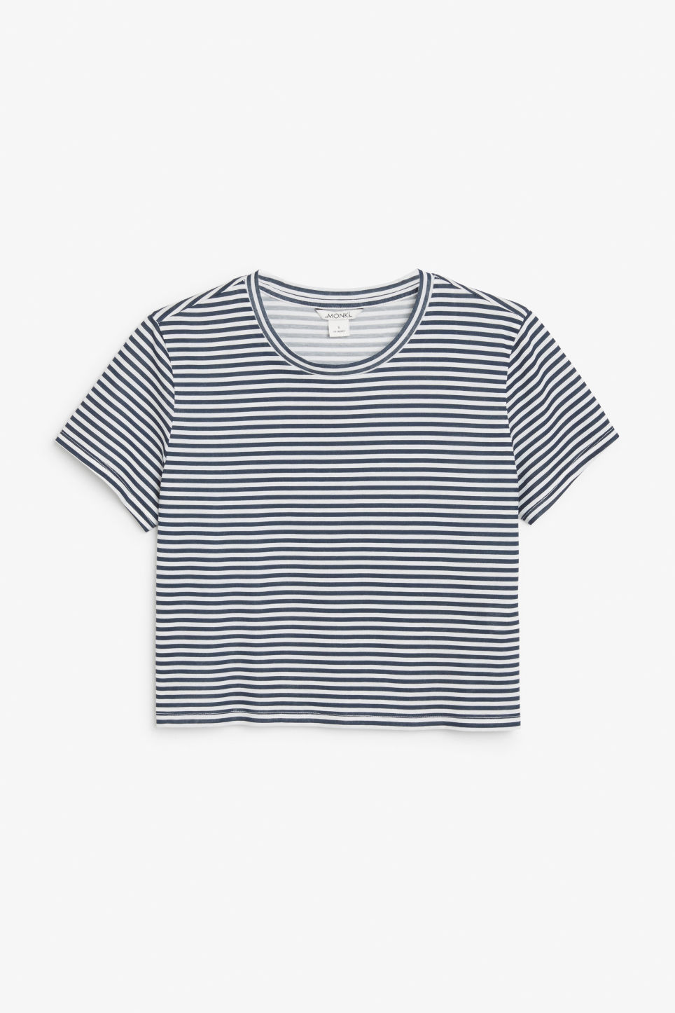 Front image of Monki cropped tee in blue