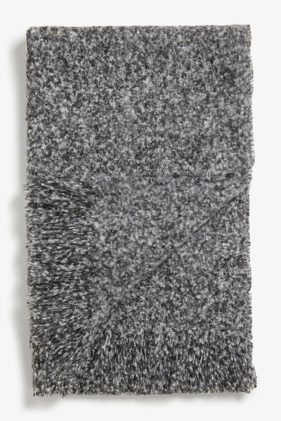 Front image of Monki textured scarf in grey