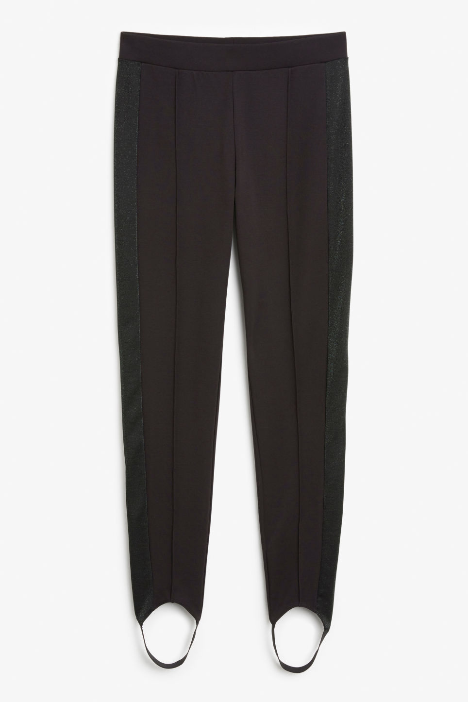 Front image of Monki fancy leggings in black
