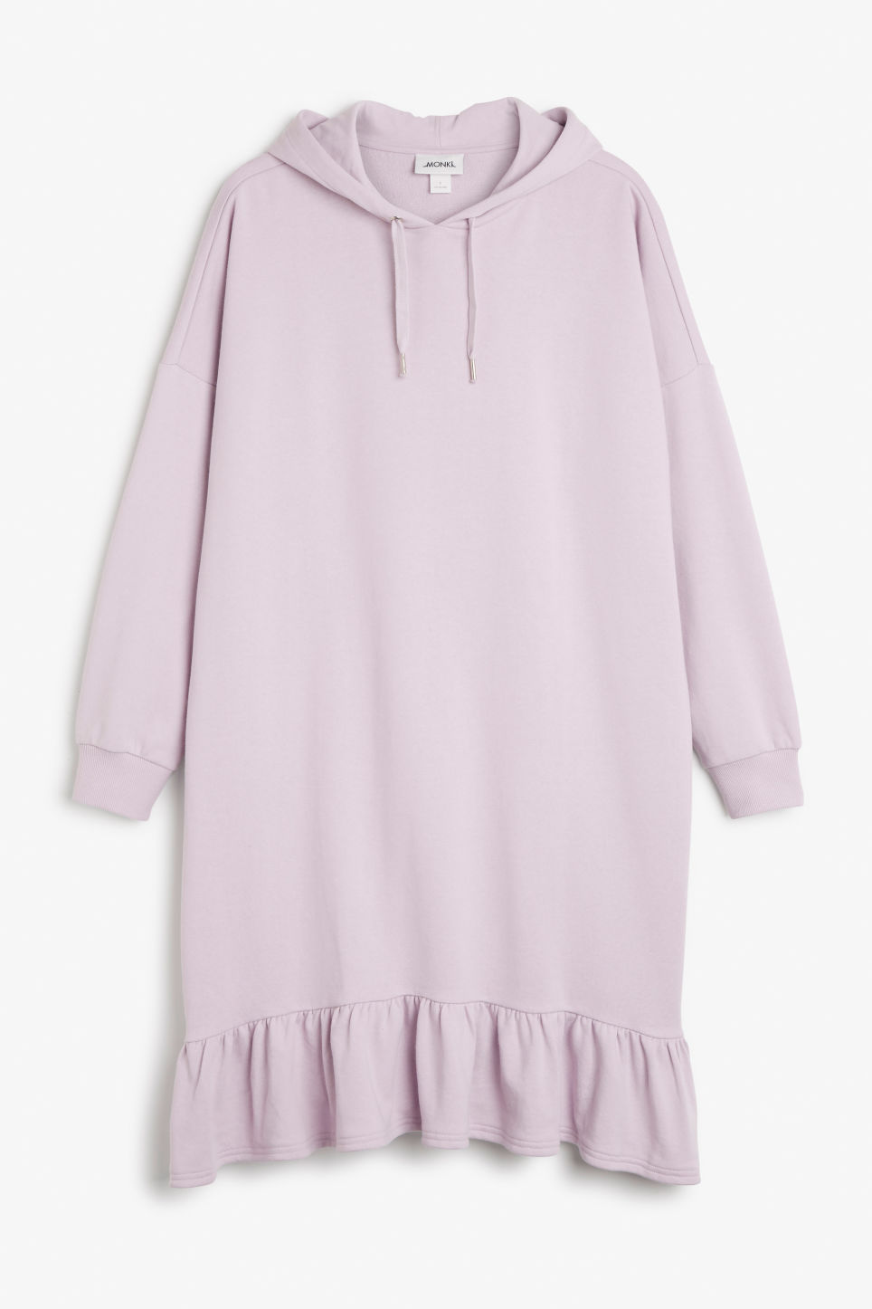 Front image of Monki hoodie dress in purple