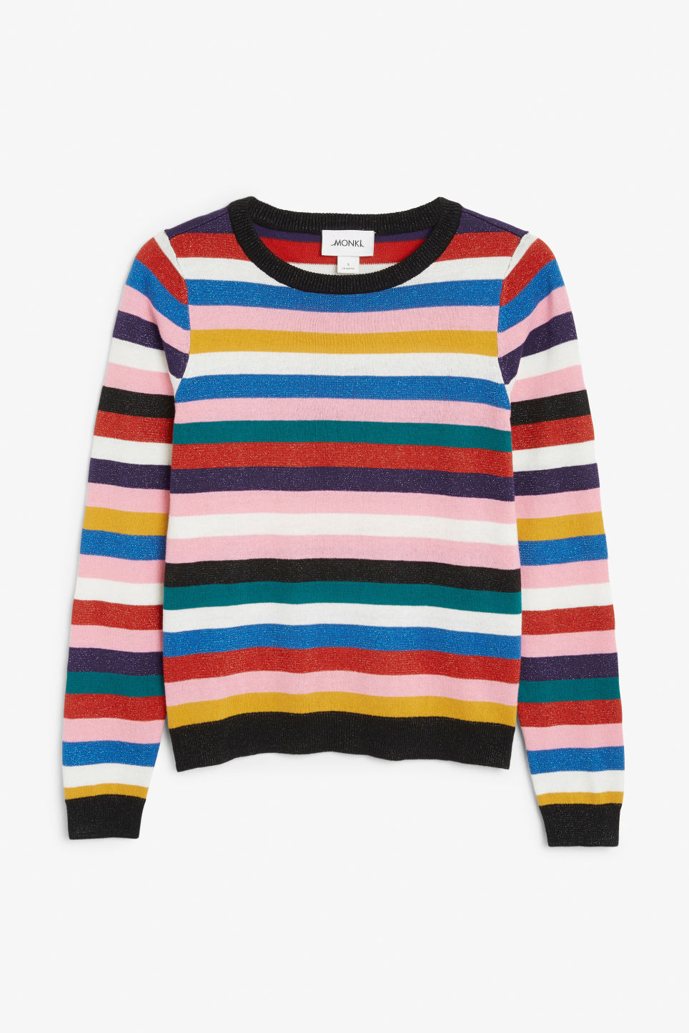 Front image of Monki knitted long-sleeved top in pink