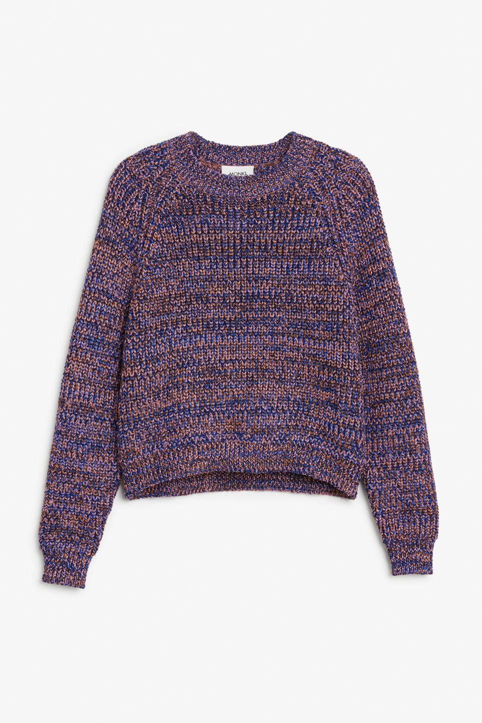 Front image of Monki glitter sweater in yellow