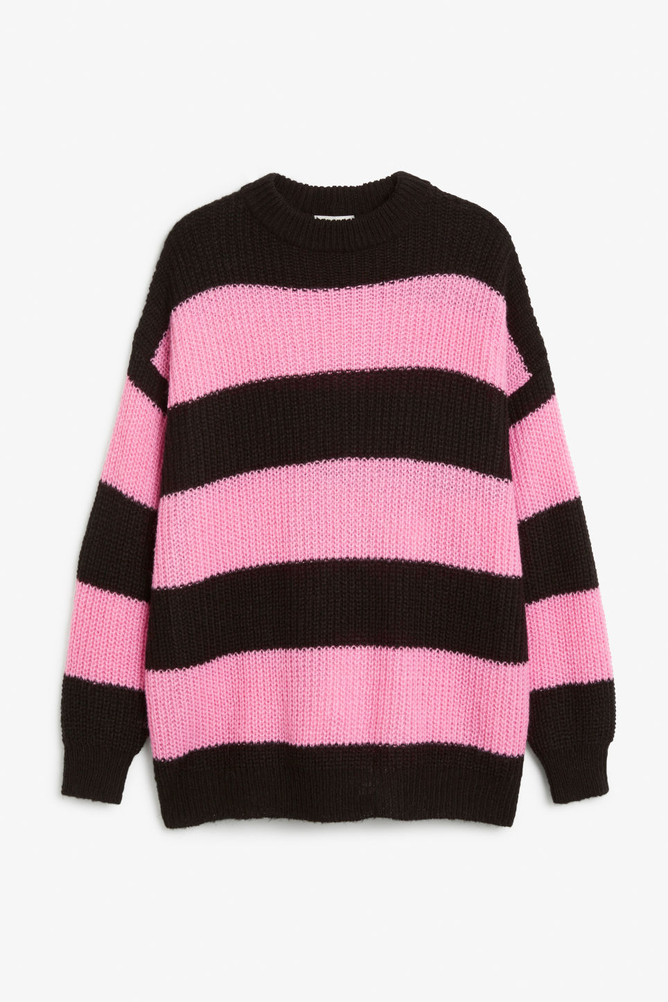 Front image of Monki oversize knit top in pink