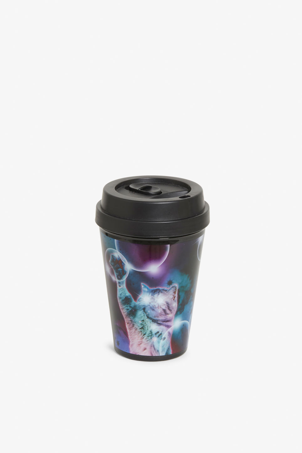 Front image of Monki travel mug in black