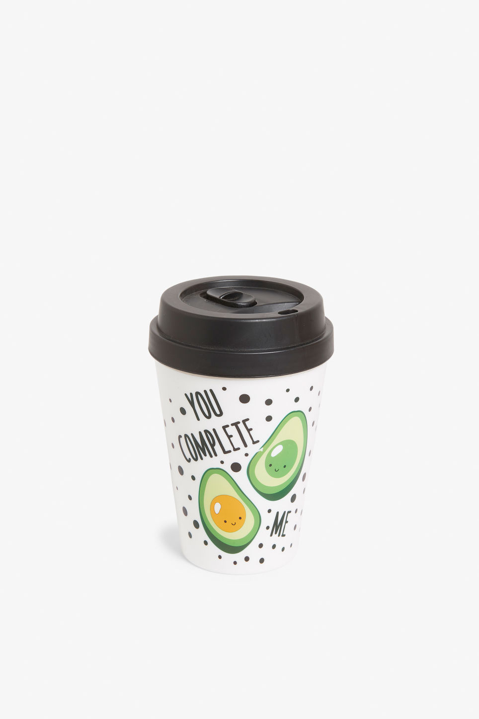 Front image of Monki travel mug in white