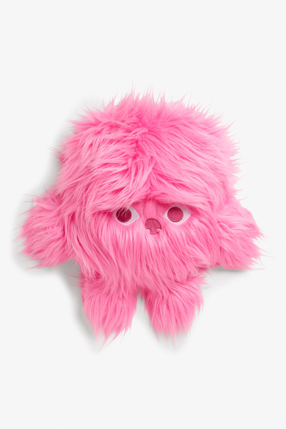 Front image of Monki monki pillow in pink