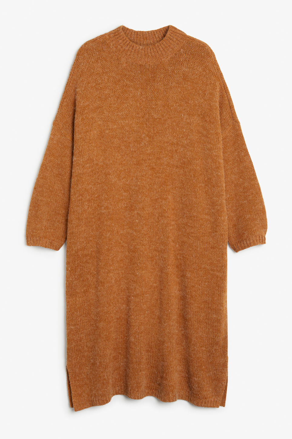 Front image of Monki melange knit dress in orange