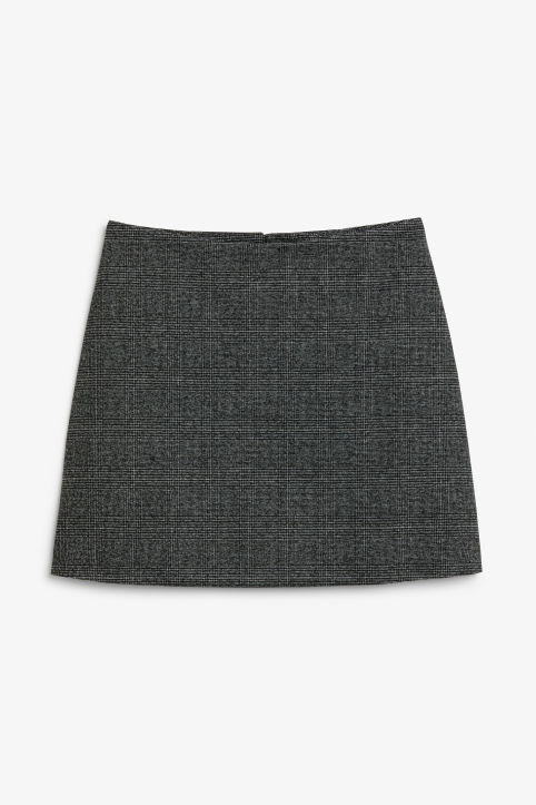Front image of Monki mini skirt in grey