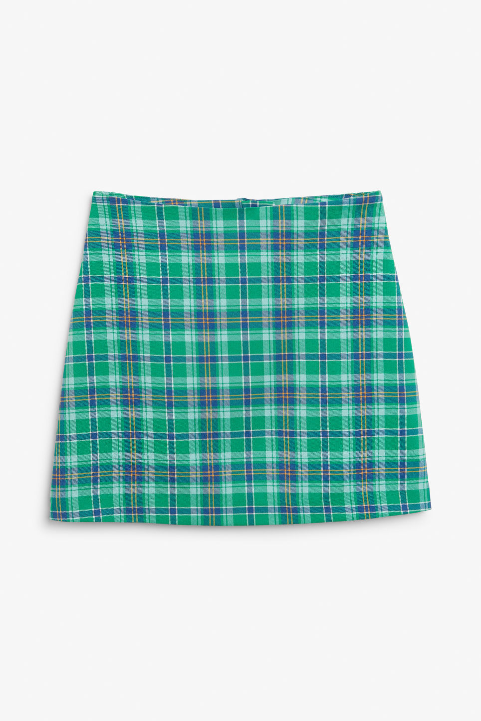 Front image of Monki mini skirt in green