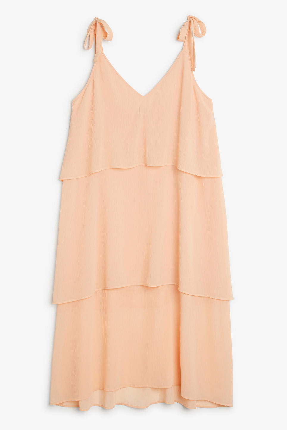 Front image of Monki shoulder tie dress in pink