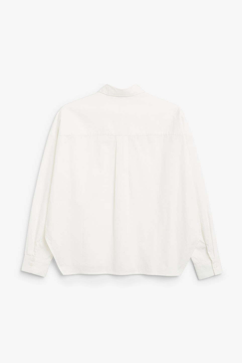 Back image of Monki hidden button cotton blouse in white