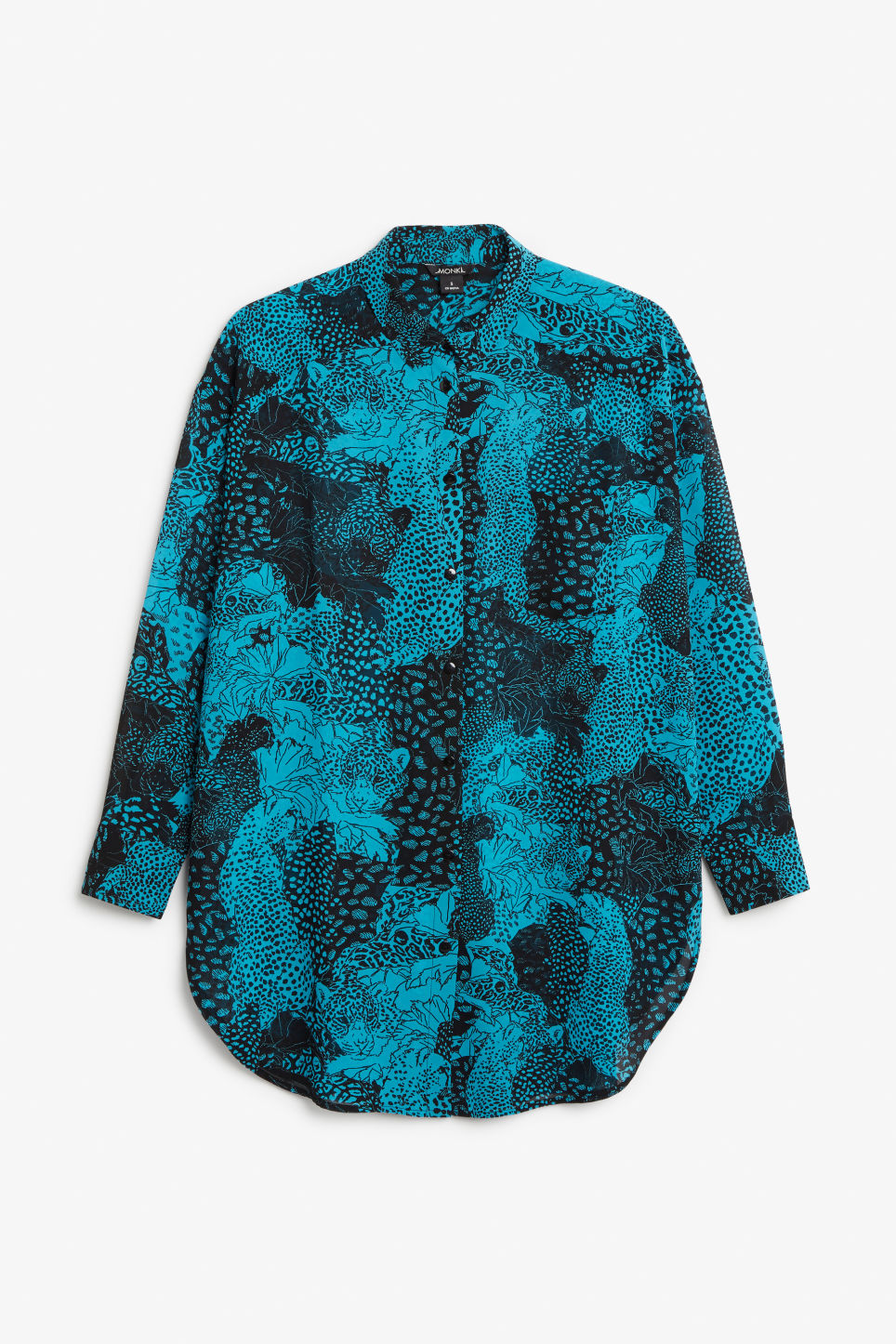 Front image of Monki long blouse in turquoise