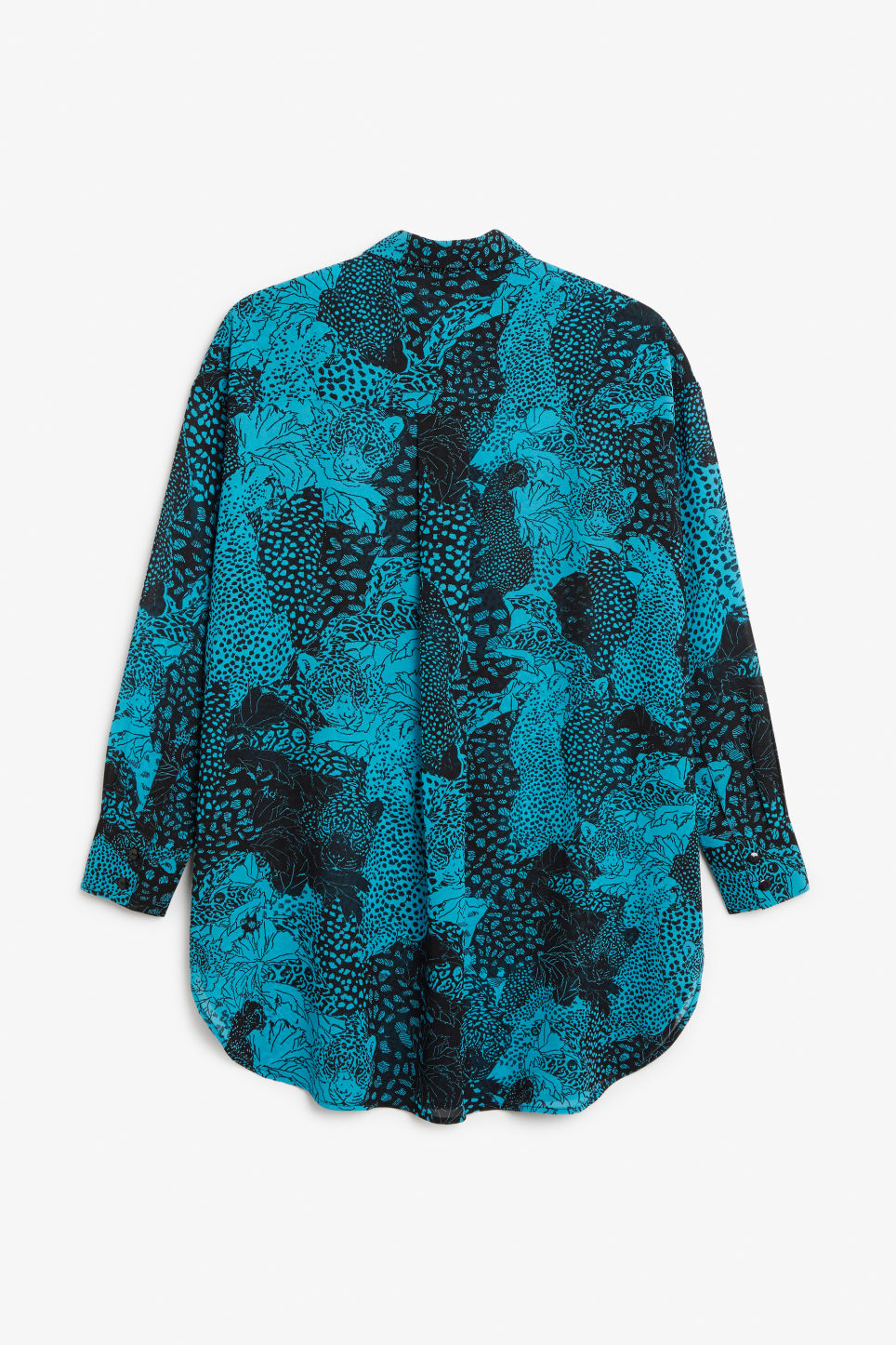 Back image of Monki long blouse in turquoise
