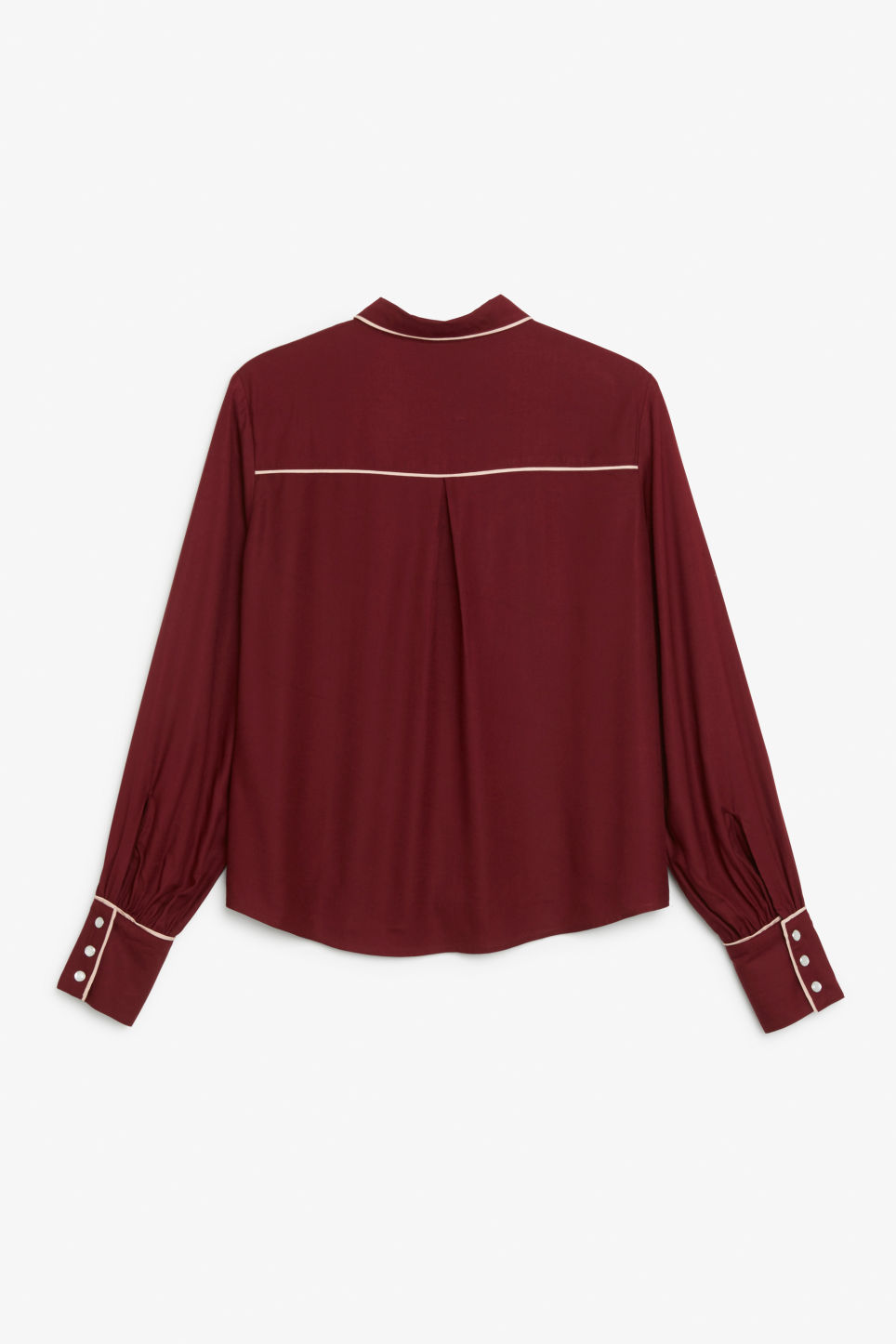 Back image of Monki western shirt in red