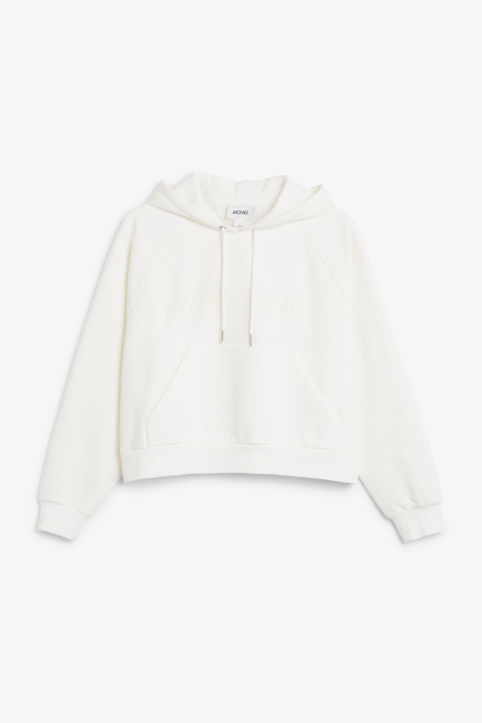 Statement cropped hoodie