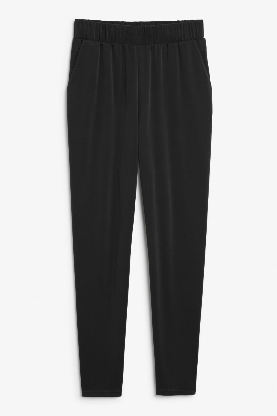 Front image of Monki super-soft lounge pants in black