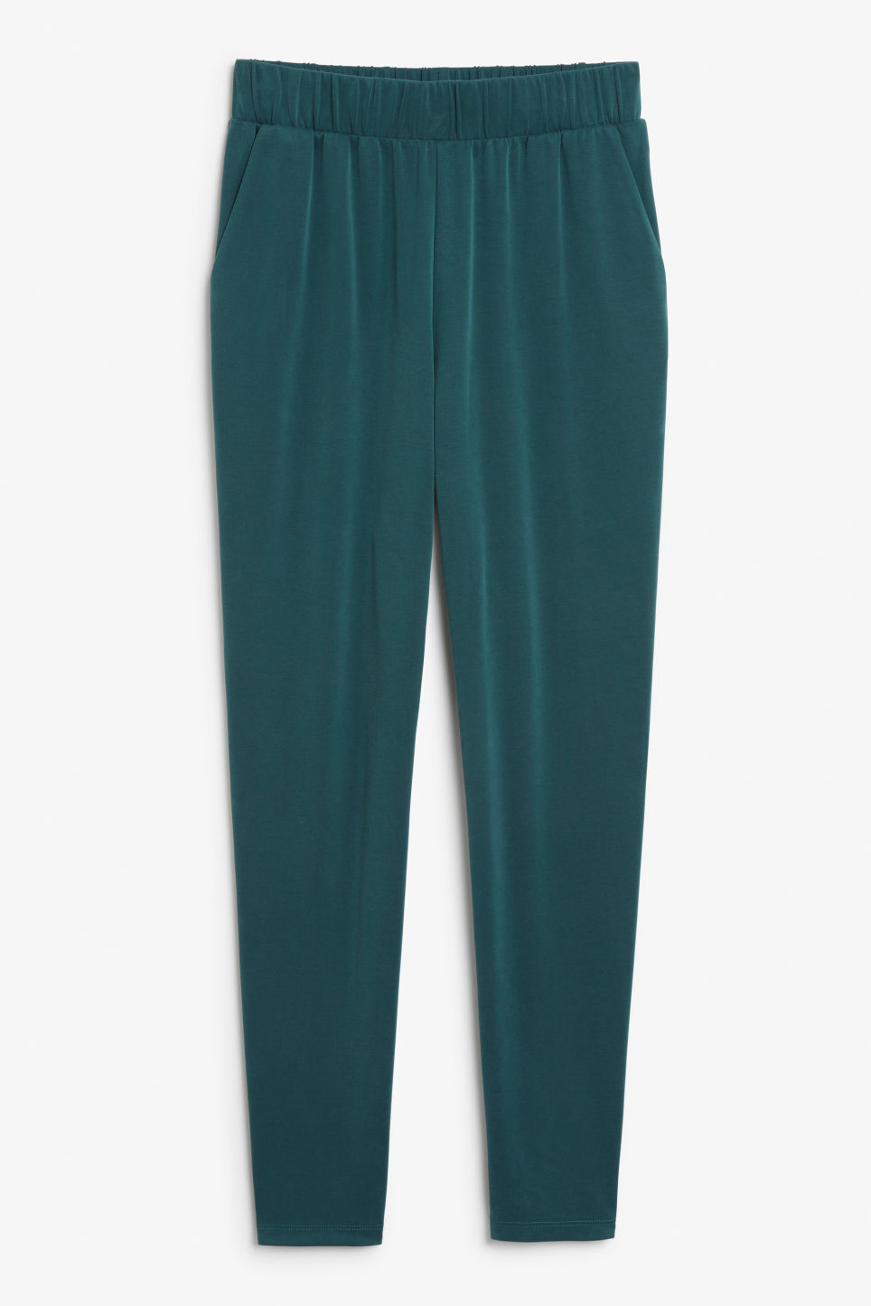 Front image of Monki super-soft lounge pants in green