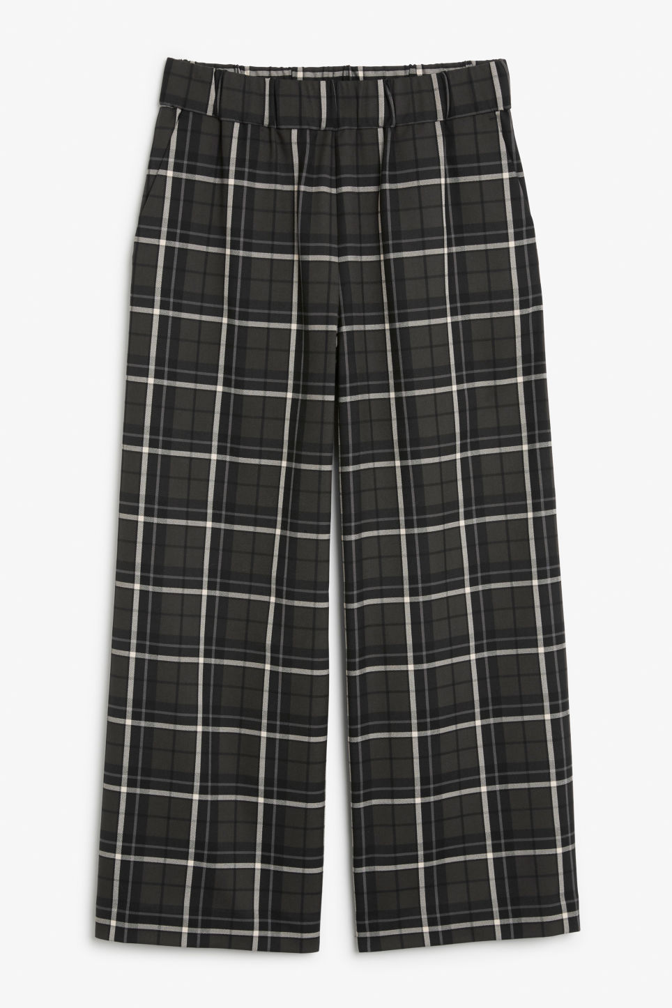 Front image of Monki wide swing trousers in grey