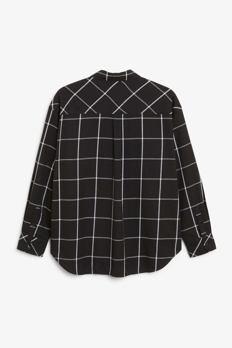 Back image of Monki check shirt in black