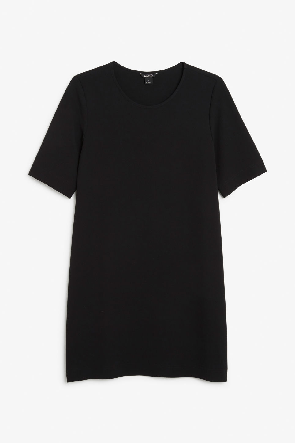 Front image of Monki classic stretch dress in black