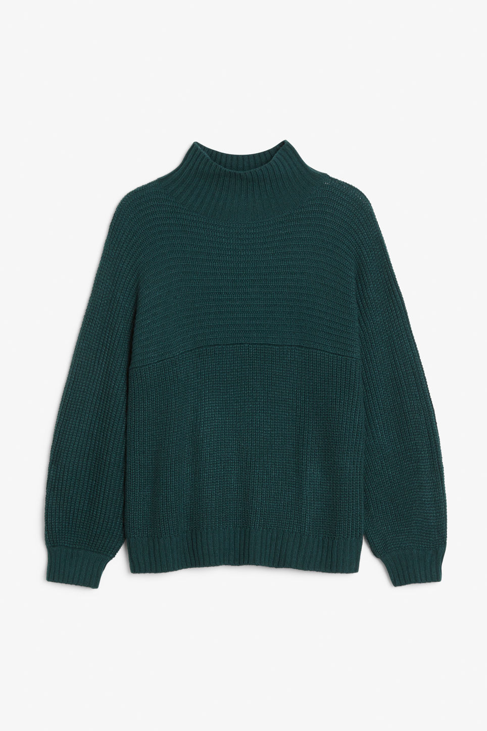 Front image of Monki knit sweater in green