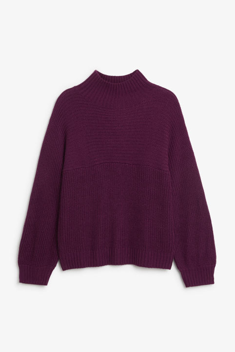 Front image of Monki knit sweater in purple