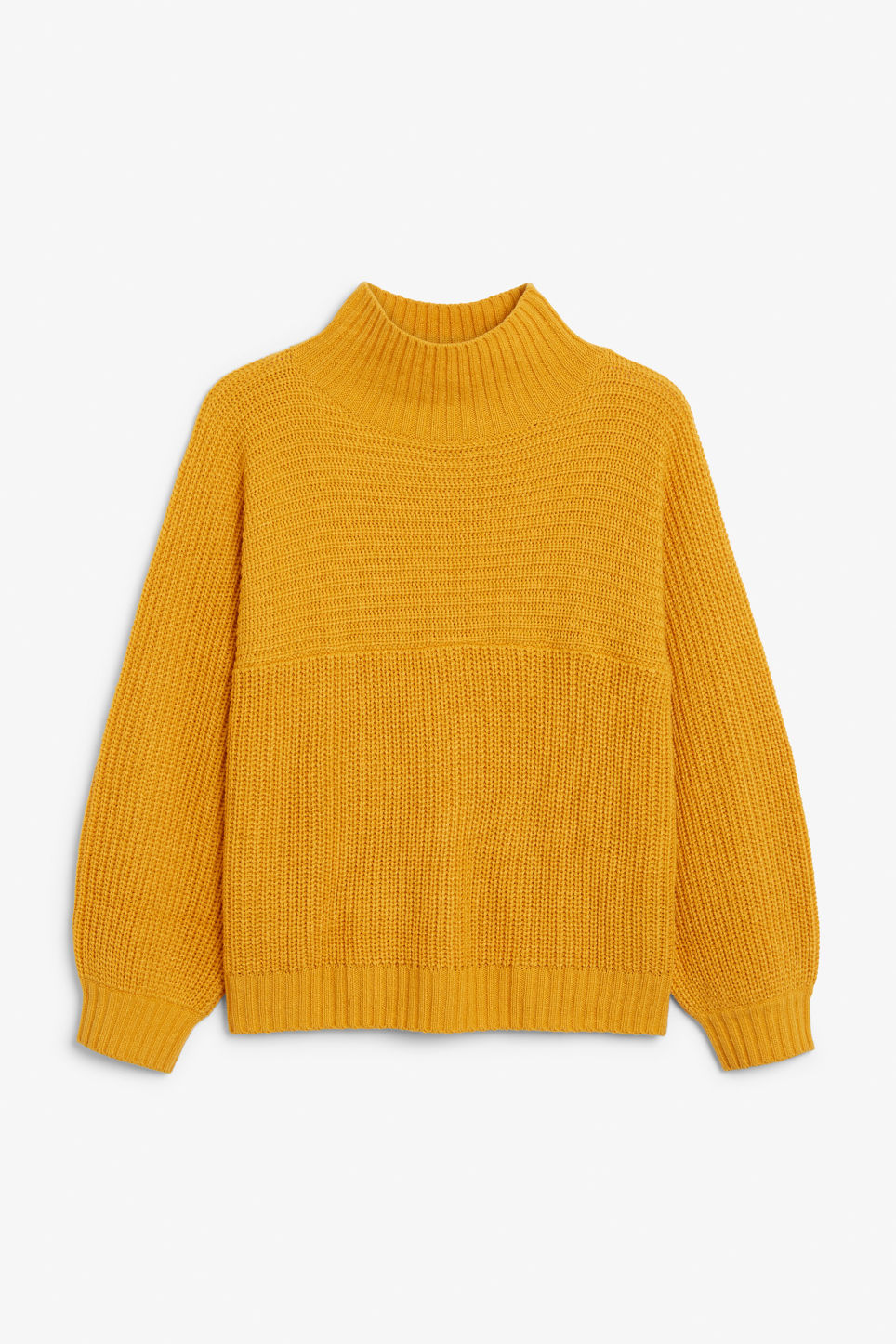 Front image of Monki knit sweater in yellow