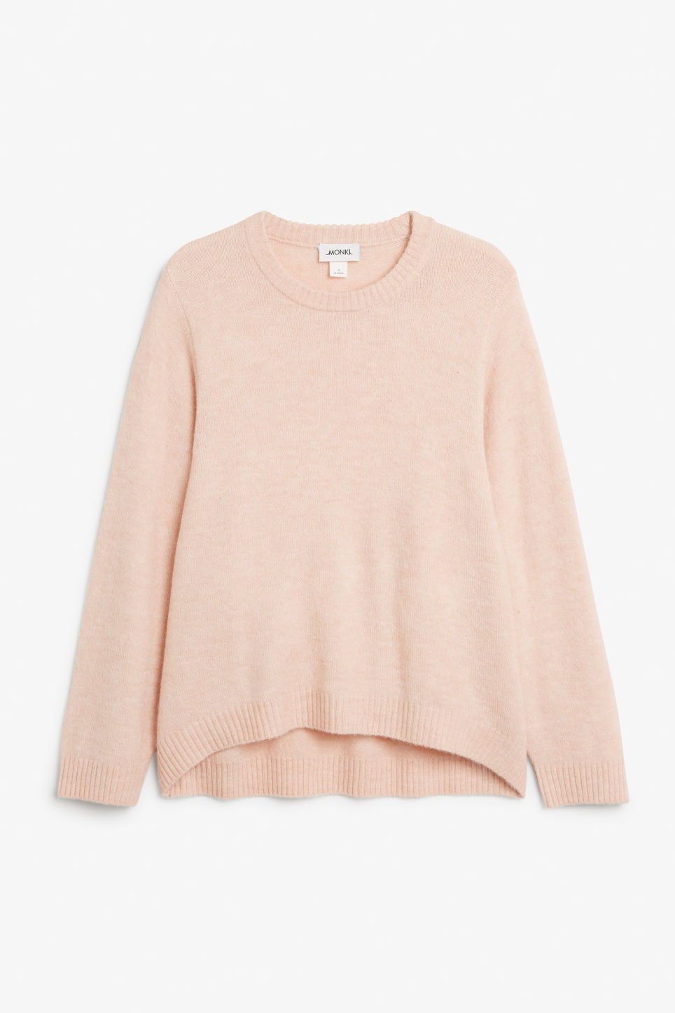 Front image of Monki batwing sweater in orange