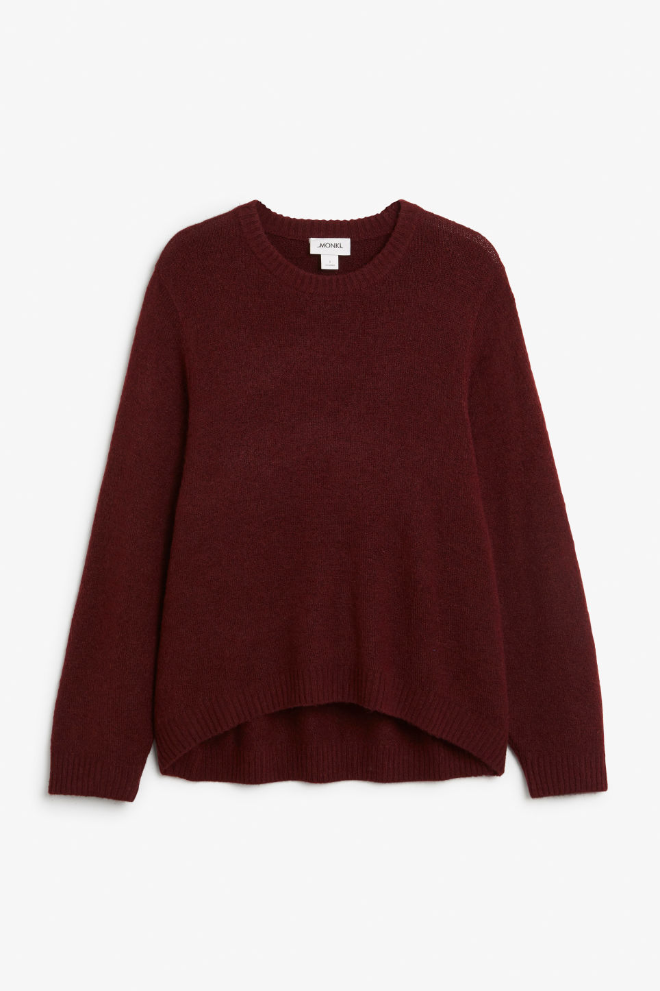 Front image of Monki batwing sweater in pink