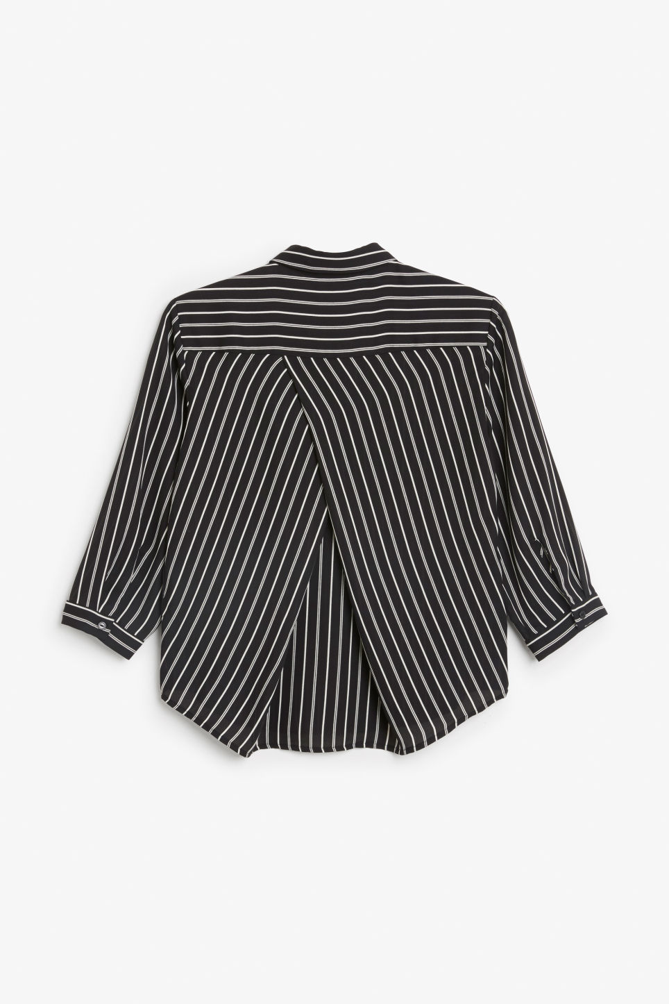 Back image of Monki button up blouse in black
