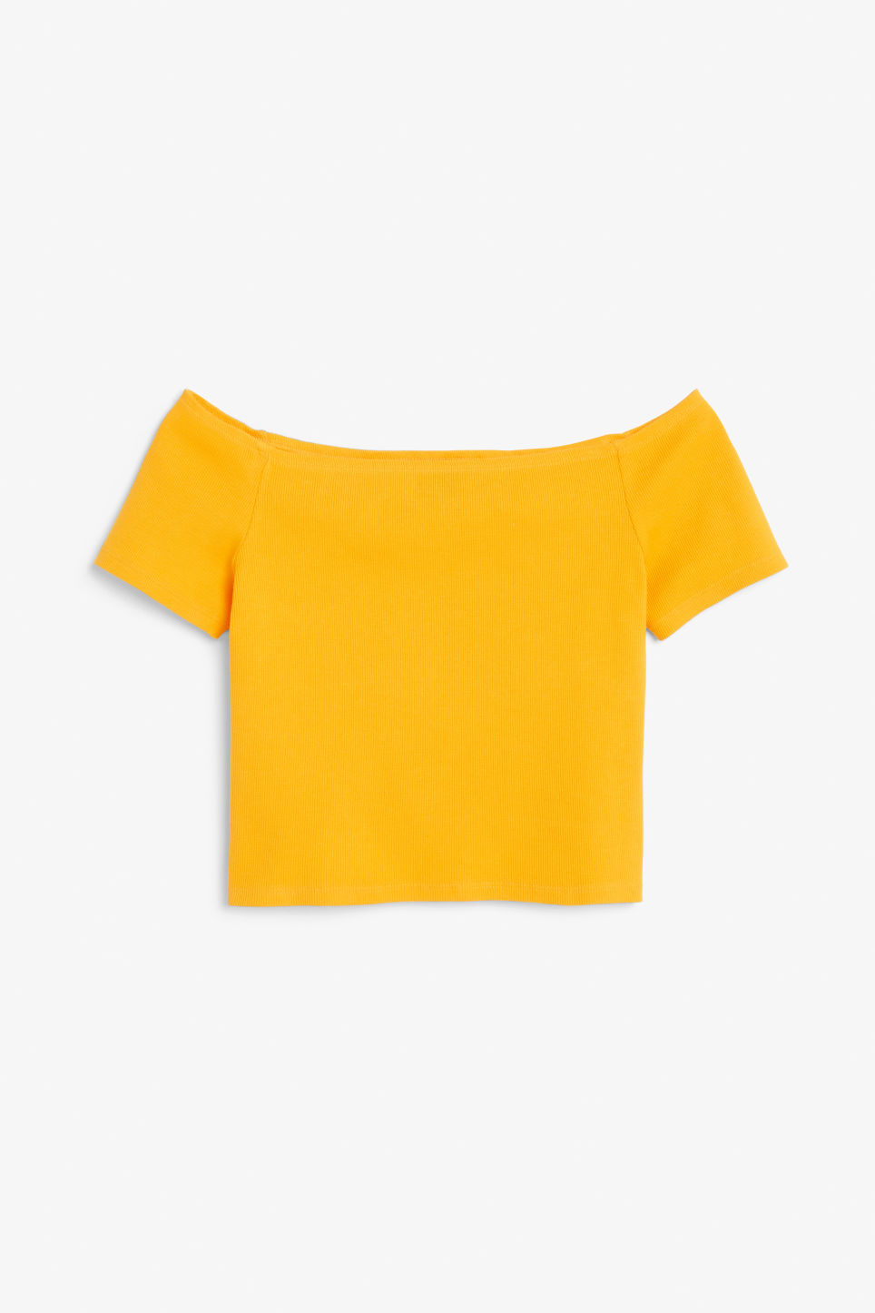 Front image of Monki sleeveless tee in yellow