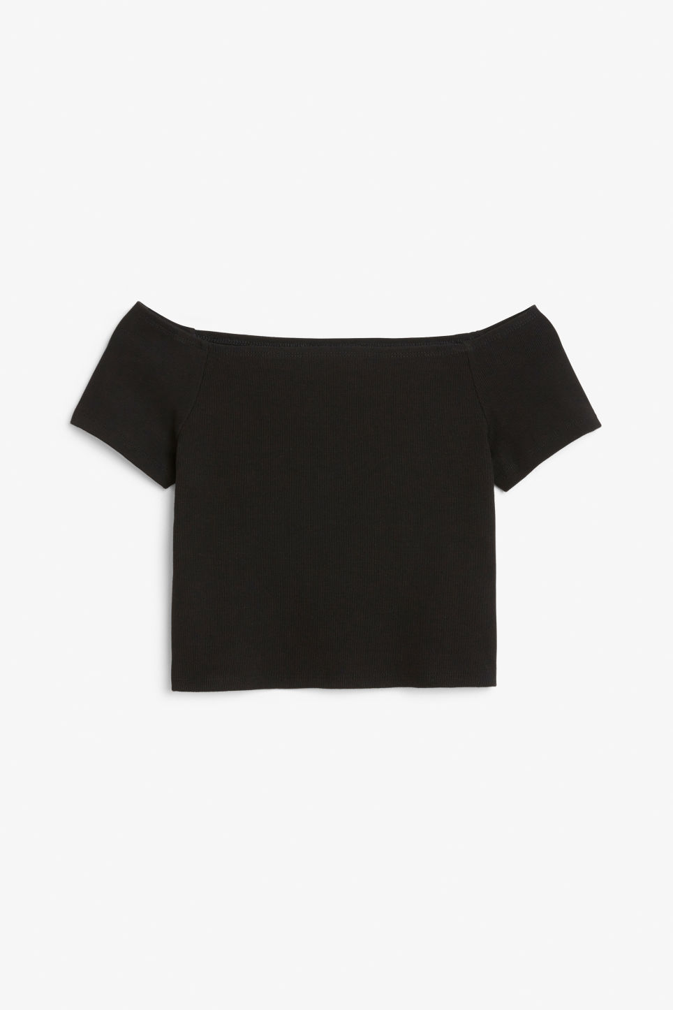 Front image of Monki sleeveless tee in black