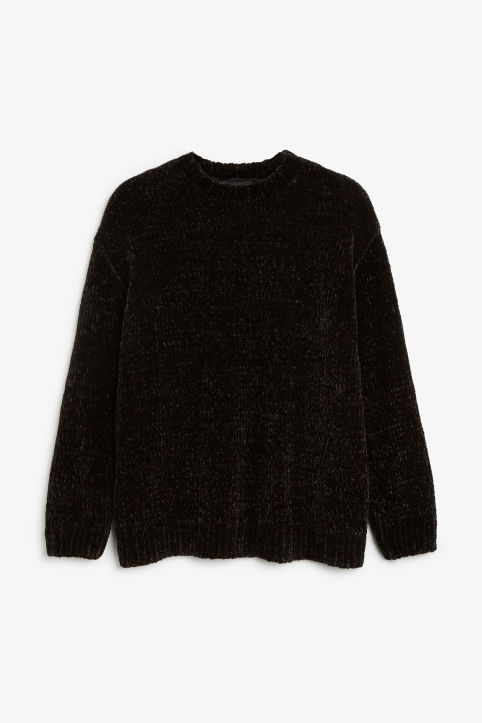 4394e2188 Velvety knit sweater Velvety knit sweater