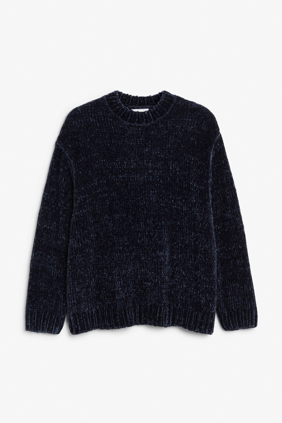 Front image of Monki velvety knit sweater in blue