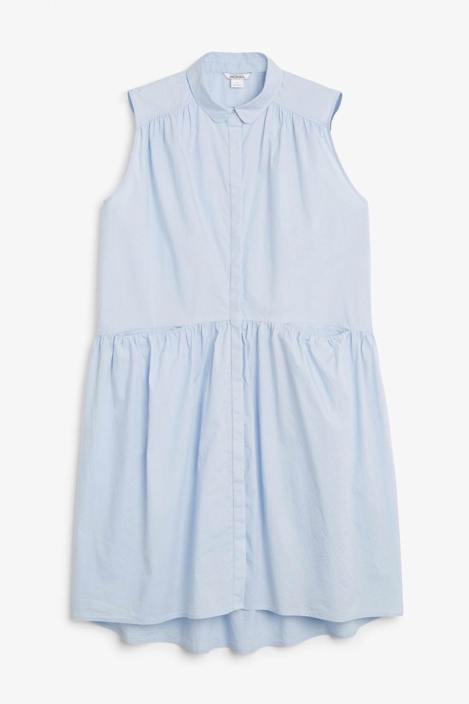 Front image of Monki sleeveless dress in blue