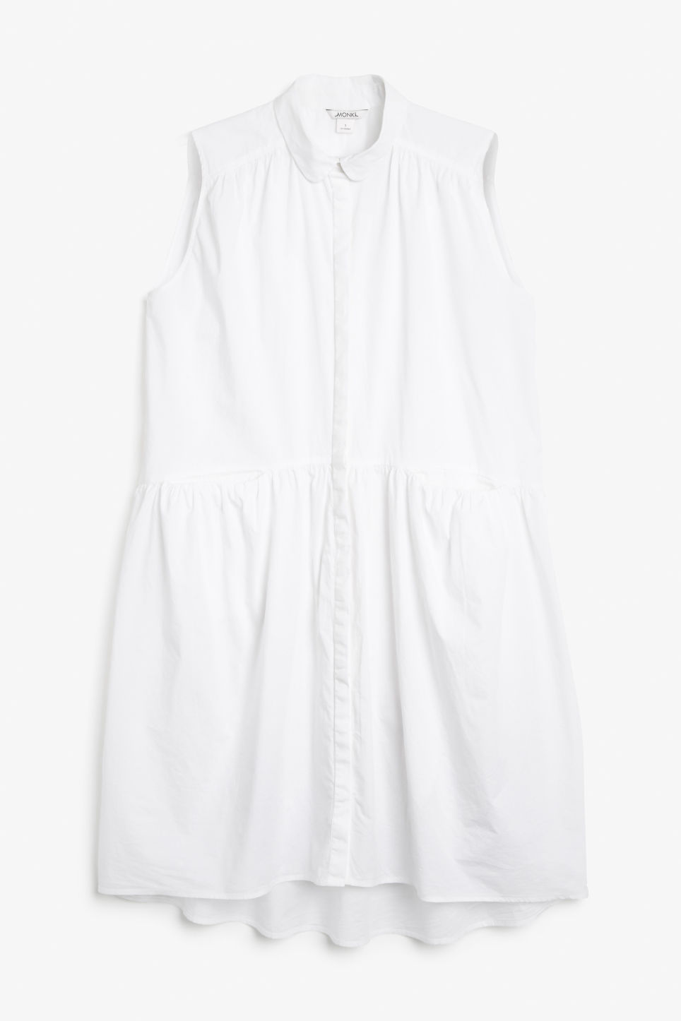 Front image of Monki sleeveless dress in white