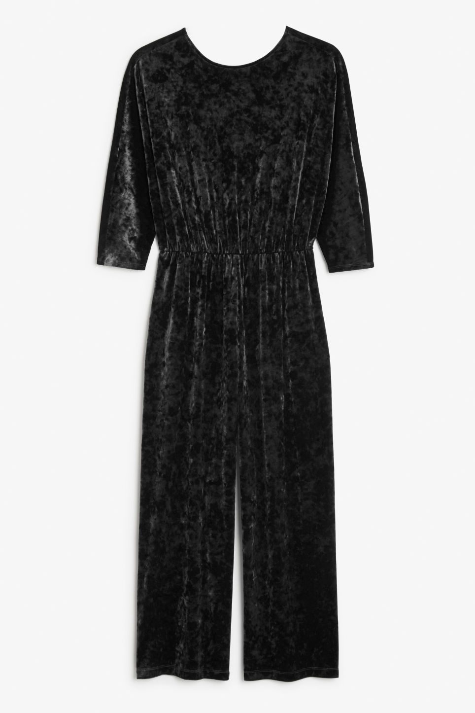 Front image of Monki fancy jumpsuit in black